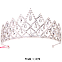 Hot selling fashion bling crystal bridal zircon tiara crown