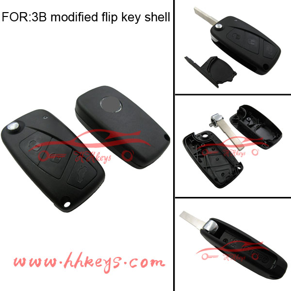 Fiat 124 Spider,500,500X,Punto 3 buttons remote smart Folding car key Card cover