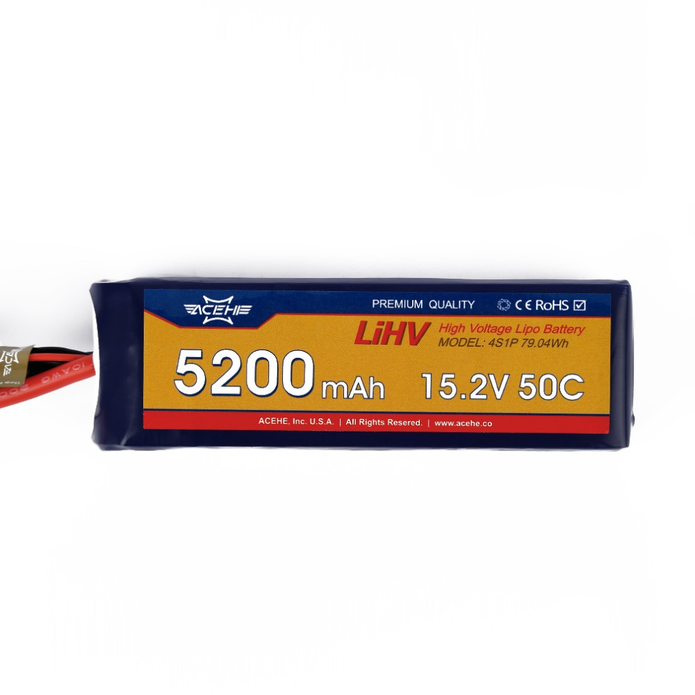 ACEHE 15.2V 5200mAh 50C 4S1P 79.04Wh High Voltage Lipo Battery