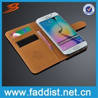 Retro Flip Leather Wallet Stand Case for Samsung Galaxy S6 edge SM-G925