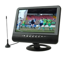 7.5 inch TFT LCD Color Analog TV with Wide View Angle, Support SD/MMC Card, USB Flash Disk(Black)