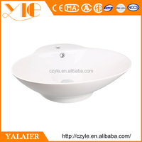 New design cheap white ceramic sink stone