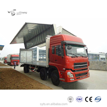 Cargo Truck 6X2 30T Wing Opening Box Delivery Van for Sale