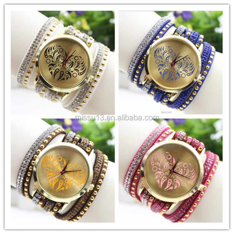 popular korea watch fashion heart friendship geneva luxury watch