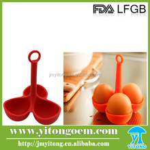 Three cups silicone egg boiler&silicon cooking tool