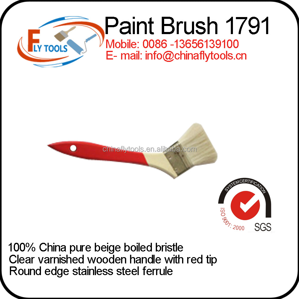 china supplier wholesale boiled bristle pig hair paint brushes