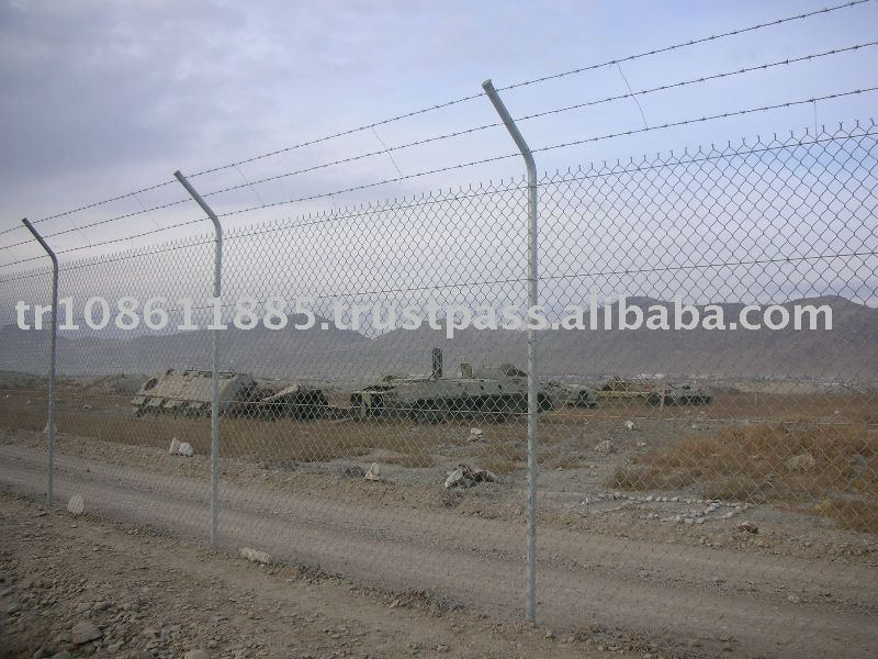 Galvanized chain link fabric