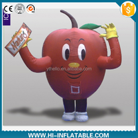Hot sale advertising inflatable apple costume, inflatable cartoon costume for sale