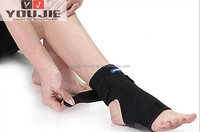 Black sports elastic ankle sleeves heating ankle wrap
