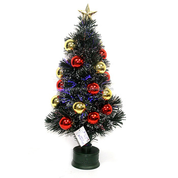 2015 new cheap musical snowing mini crystal fiber optic christmas tree