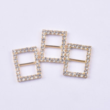 unquic and luxury lace chair sash buckleEco-friendly Various shape crystal rhinestone buckles for wedding invitations chair sash