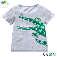 Fashionable short sleeve baby girl cotton cartoon t-shirt