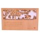 Custom Logo Wooden Laser Cut Card Wedding Invitation Greeting Laser Card