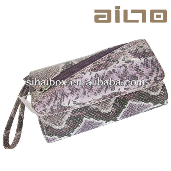 2015hot sale fashion beige Leather Purple zebra bag sexy lady handbag