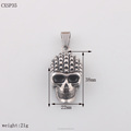 Skull Head Punk Mens Steel Pendant