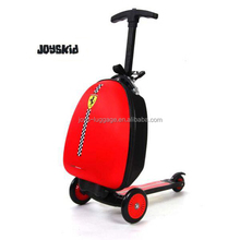 "JK-170533 Ferrari Red Scooter Luggage ABS Hard Shell 16"" Kid's Luggage"