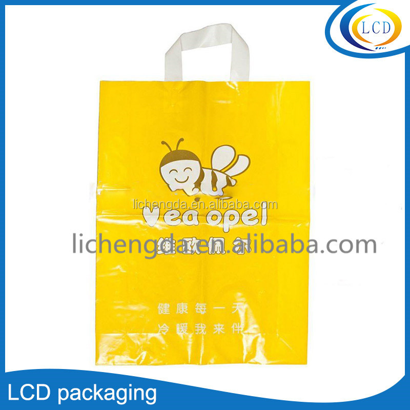 OEM Promotional Cartoon Shopping Packaging poly Bag/Handbag For Clothes