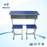 Luoyang low price modern school desk and chair / cheap school desk