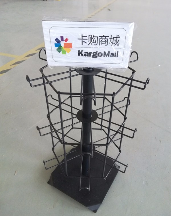 Supermarket Rotary Display Grid Wire Show Showcase Wire Rack