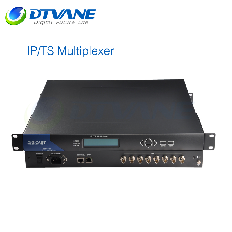 DMB-9160A DVB IP to ASI Multiplexer for Edge side of Digital TV backbone network