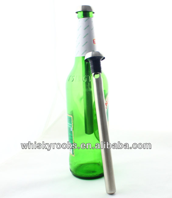 Top reusable stainless steel beer chiller rod, cooling stick for wine