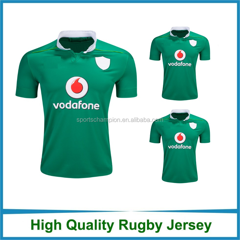Cheap Sublimation 2016 2017 Green Rugby Jersey Rugby Shirt