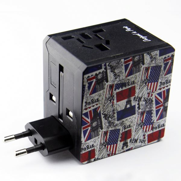 2015 newest double usb ac adapter,12v ac/dc adapter for mobile phones