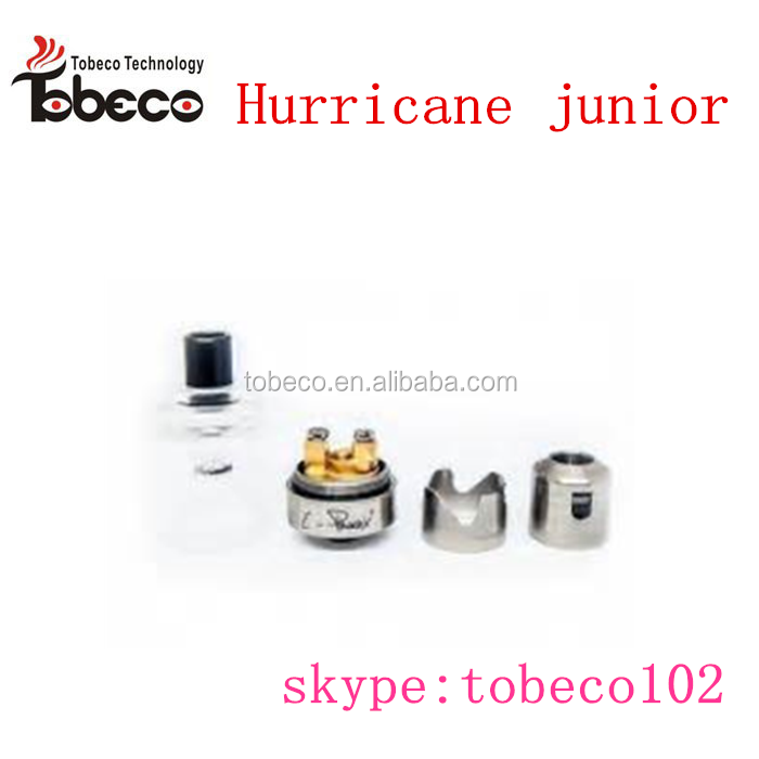 Tobeco SS304 hurricane junior 1:1 clone rta Hurricane junior RBA with 24k gold plated