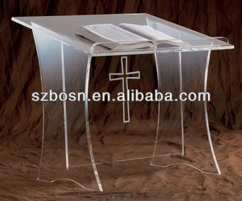 Acrylic Tabletop Lectern With Cross,Acrylic Podium Pulpits