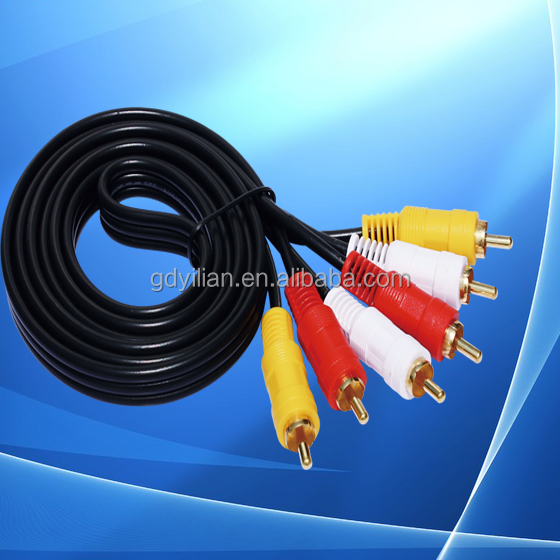 RCA Cable HD AV Six Line 3RCA/M-3RCA/M Audio Video Composit AV Cable