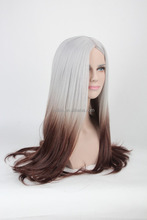 MFW-0094 Top New beauty long synthetic fashion source hair wig, gradient color wig