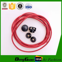 hot selling Fashionable reflective round elastic shoelaces