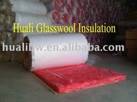 Color glass wool insulation material as building and decorate building material