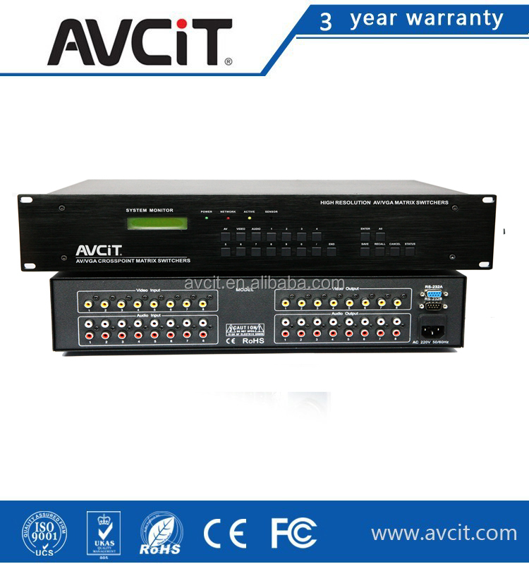 OEM/ODM 1080P Home Control System Video Home AV 8x8 Matrix Switcher