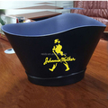 Factory custom made plastic big Plastic rum bucket for promotion