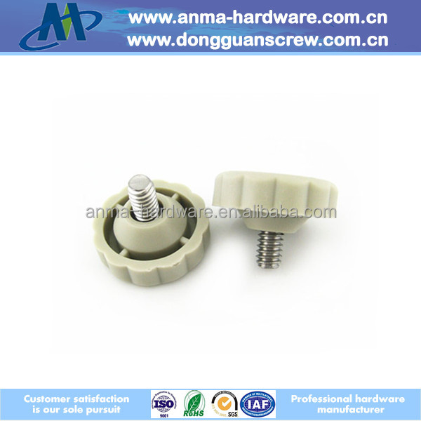 Plastic Head Bolt Knob with Threaded Bolt