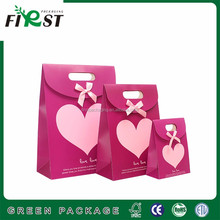 Full Color Printing Gift 300g Paper Bag with Velcro Closure