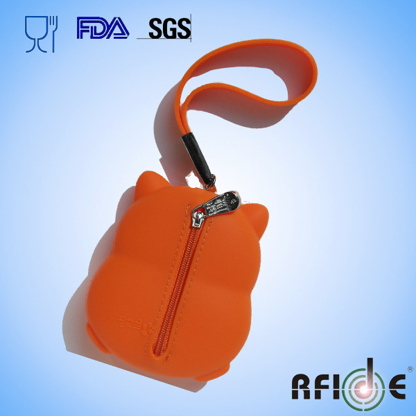2015 New Design silicone material key bag