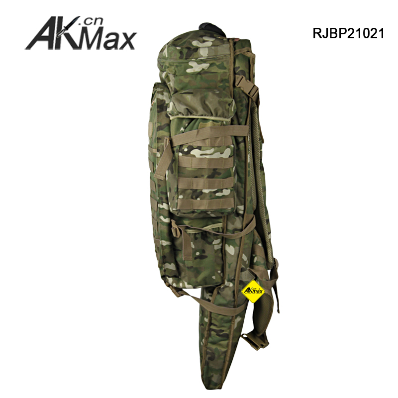 Tactical padded gun bag backpack straps airsoft hunting rifle case olive