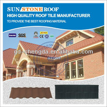 Coffee Brown Color Stone Coated Metal Roof Tiles/ Classic Type