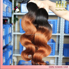 Hot selling body wave 1b/33 two tone ombre persian remy hair weaving