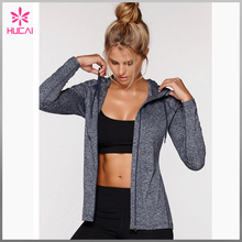 (OEM factory) cheap wholesale polyester spandex woman workout trainning sports Jacket for women