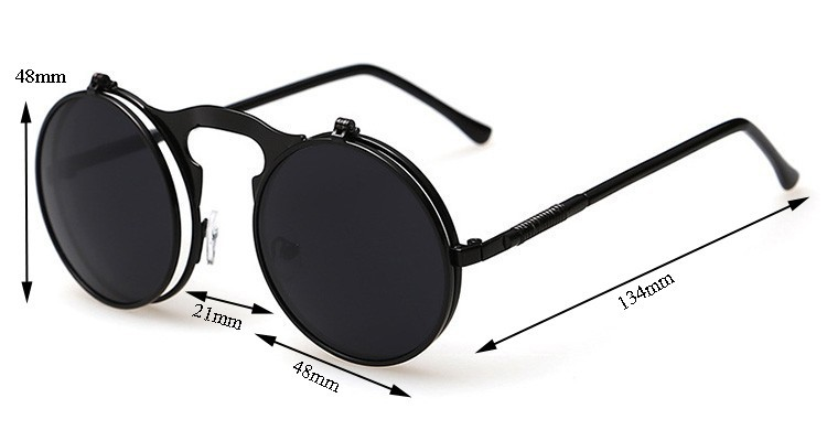 round designer sunglasses  Wholesale MOON BUNNY 2016 Vintage Steampunk Sunglasses Round ...