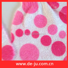 Nylon Gloves Pink Round Dot Printing Body Skin Scrubber