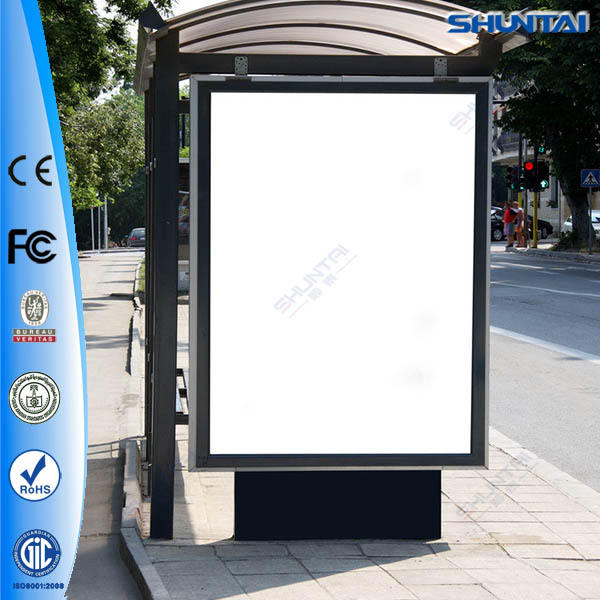 High quality scrolling light box led rolling bus stop advertising boards