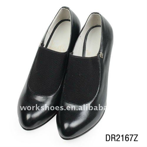beautiful classy sexy women low heel leather dress shoes