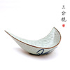 wholesale new design moon shaped ceramic bowl with hand painted