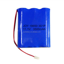 18650 3S1P 11.1V 3500mAh custom recharge li-ion battery pack with NCR18650GA cells