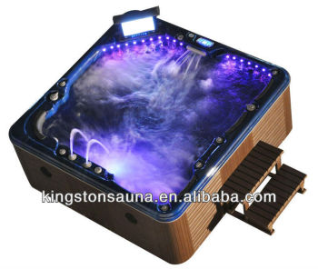 7 people Spa Massage Whirlpool Hot Tub with Pop-up TV