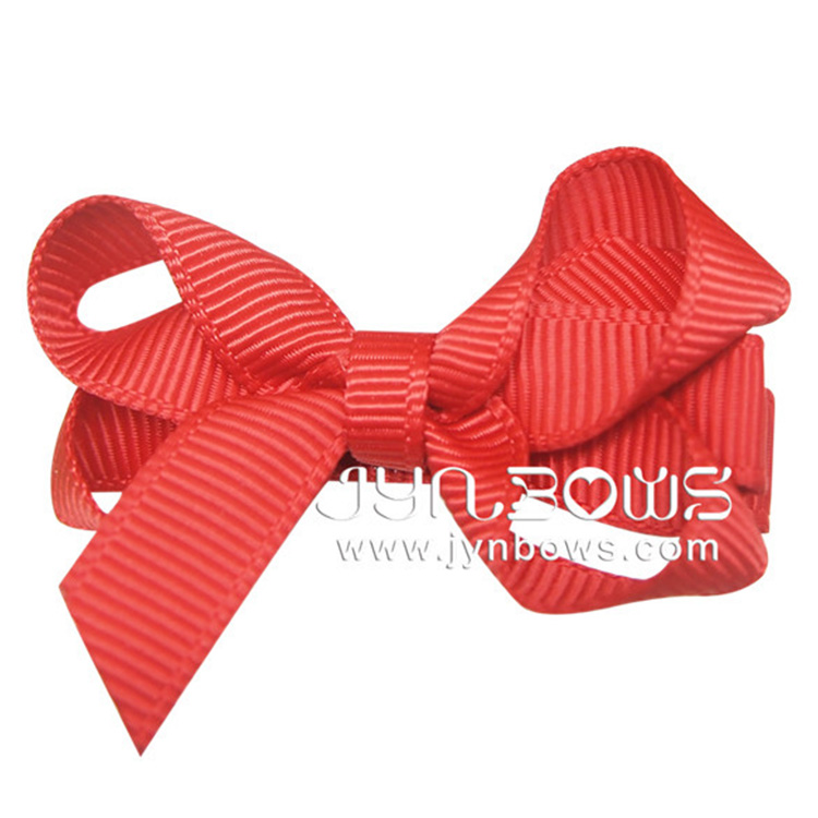 Wholesale Hair Assessories Cute Baby Girl Bows Ribbon Hair Clips